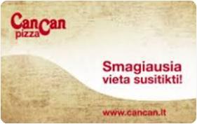 """""""CanCan pizza"""" nuolaidų kortelė"""