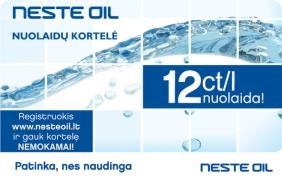 NESTE OIL nuolaidų kortelė