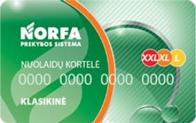 NORFA nuolaidų kortelė