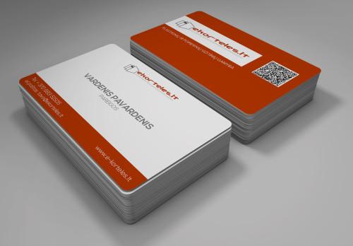 Popierinės vizitinės kortelės