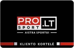 PRO Sport Kliento kortelė