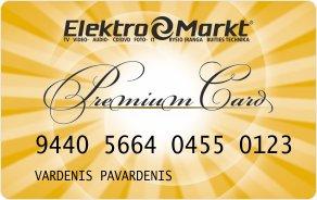 Elektromarkt kortelės