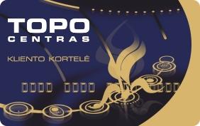 Topo centro nuolaidų kortelė