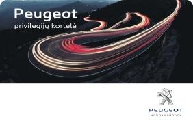 """""""Peugeot"""" privilegijų kortelė"""