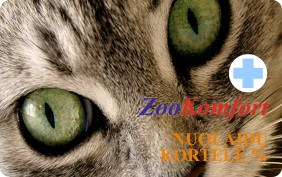 ZooKomfort lojalumo kortelė