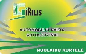 GIRILIS nuolaidų kortelė