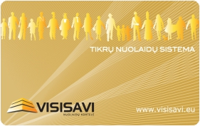 VISISAVI nuolaidų kortelė