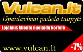 VULCAN.LT lojalaus kliento nuolaidų kortelė