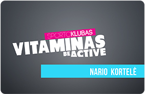 Sporto vitaminas klubo kortelė