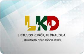 Lietuvos Kurčiųjų draugijos kortelė